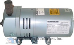 Septic air pump crossover guide septic solutions inc for Septic tank aerator motor