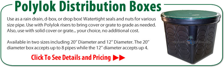 Septic Distribution Boxes, Seals, Risers, Drain Grates, Speed