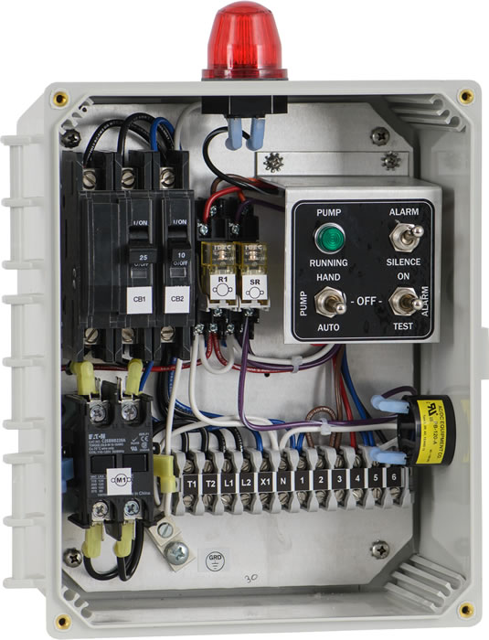 simplex control panel simplex control box septic solutions control rh septicsolutions net Industrial Control Panel Wiring Diagram CentriPro Pump Control Wiring Diagram