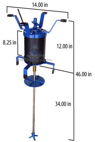 Ultra air model 535 the septic tank aerator dimensions for Septic tank aerator motor